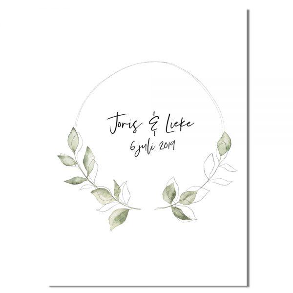Huwelijksposter-Stijlvol-Minimalistisch-Groen-poster-1