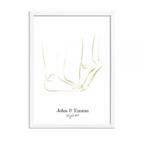 Huwelijksposter-bruidspaar-goud-6