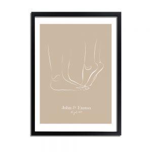 Huwelijksposter-bruidspaar-naturel-2